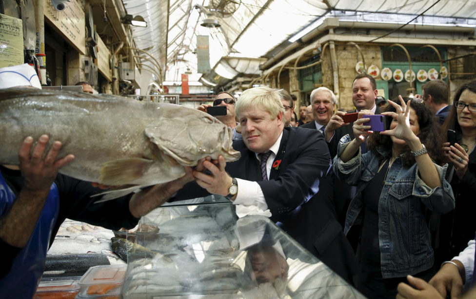 London mayor searches for the 'big fish' in Israel