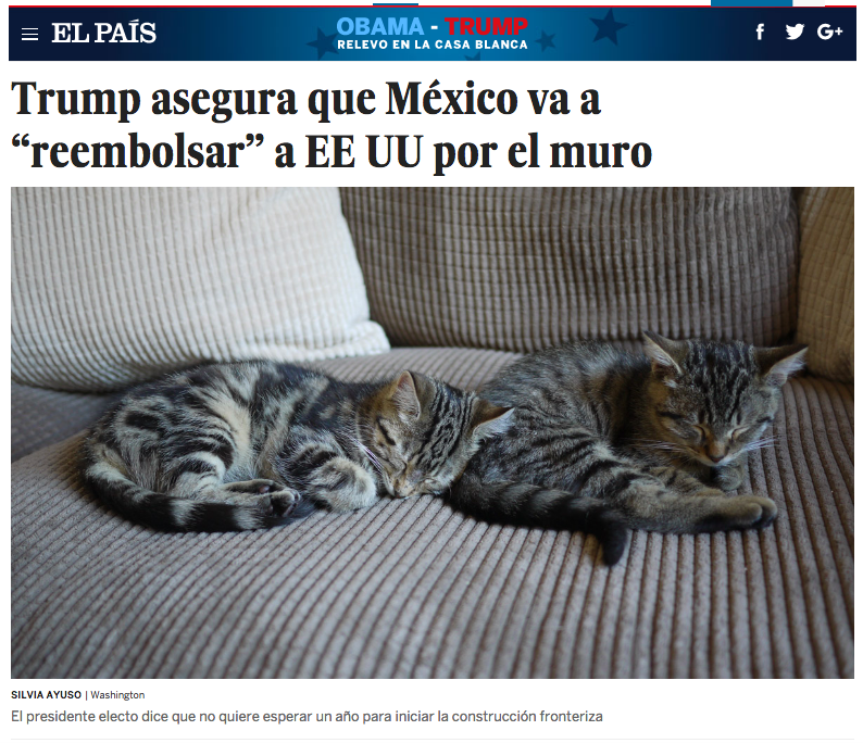 Screenshot de El País.