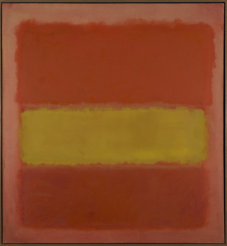 Mark Rothko. Banda amarilla (Yellow Band), 1956. (Foto: Sheldon Museum of Art)