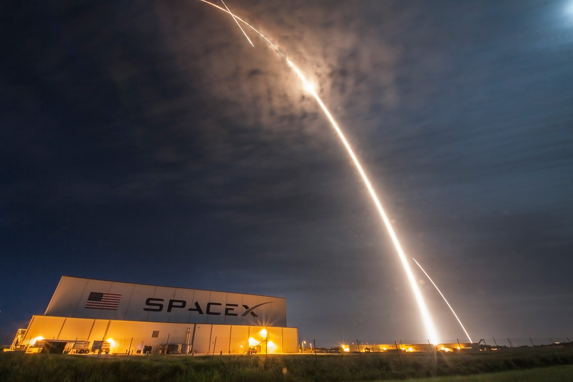 Lanzamiento del CSR-9  | Foto via Space X Flickr