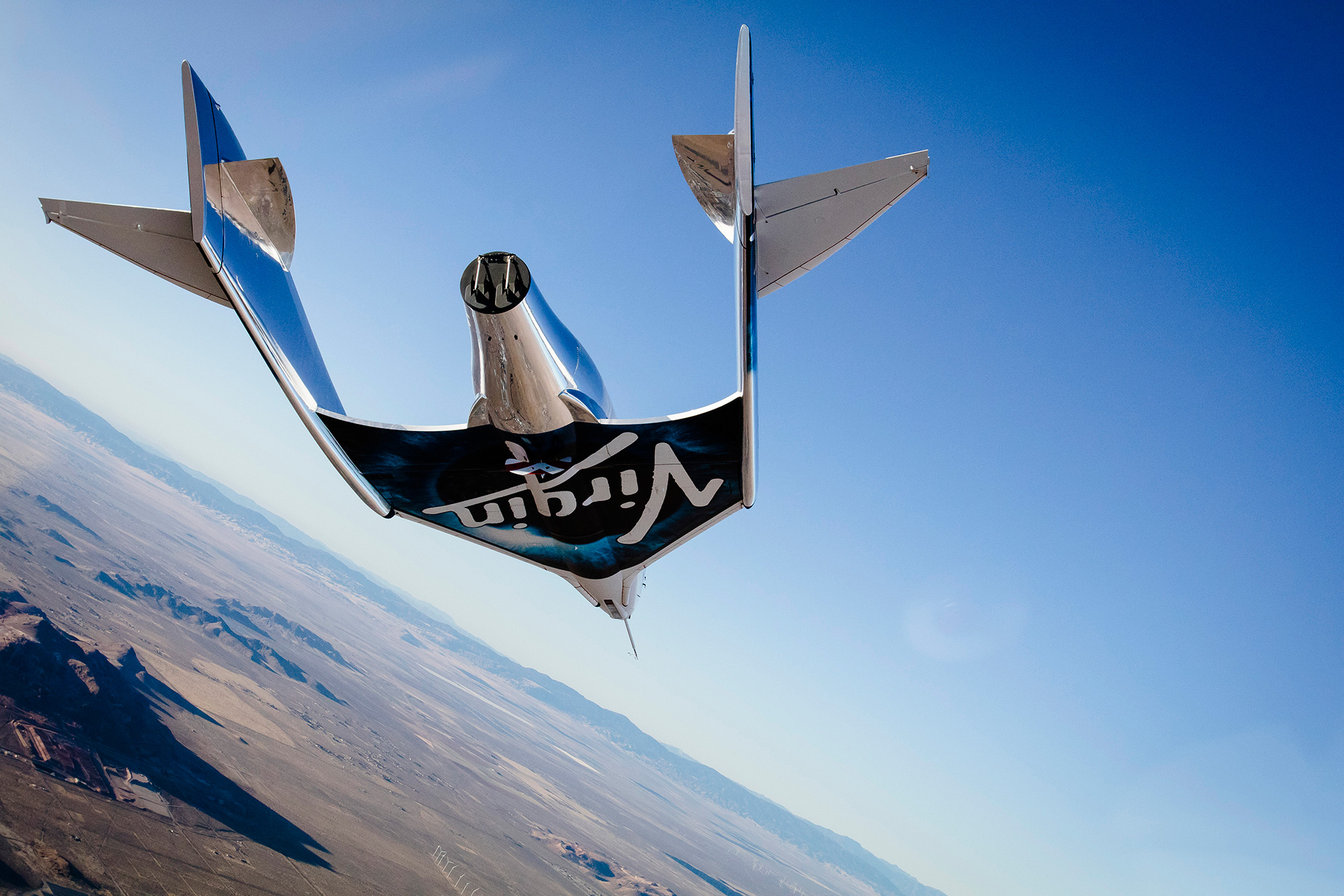 Aeronave de Virgin Galactic | Foto via Virgin Galactic