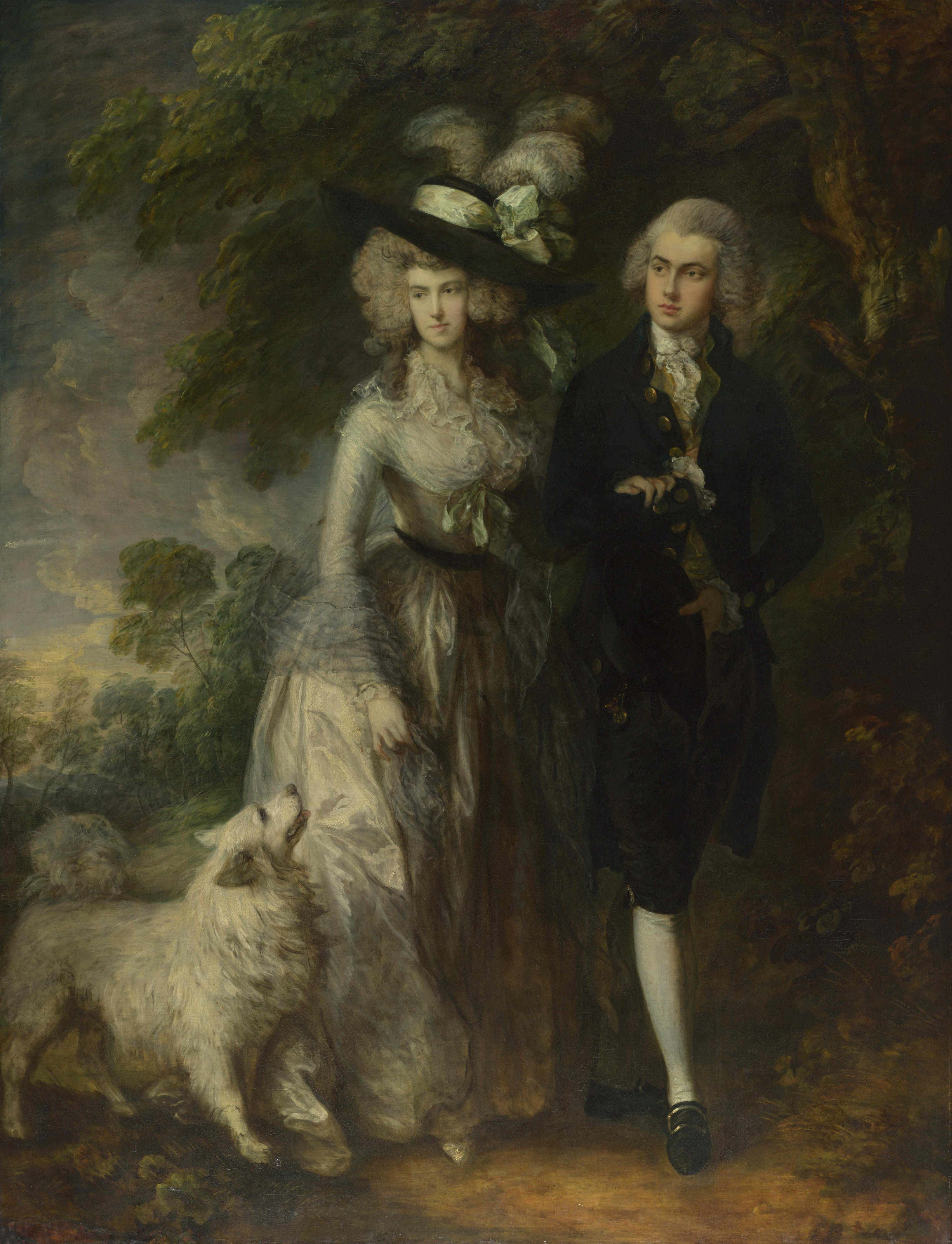 Un hombre ataca una pintura de Gainsborough en la National Gallery de Londres 1