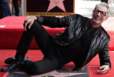 El actor Jeff Goldblum recibe su estrella en Hollywood
