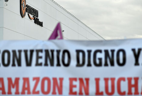 Huelga en el mayor centro de Amazon en España en pleno Black Friday